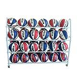 Pelota Carro Baloncesto en Rack de 3 Niveles de Almacenamiento en Rack de Baloncesto Balones Las Bolas del Deporte Titular por el Lugar de Trabajo Carros portabalones (Color : White, Size : Adult)
