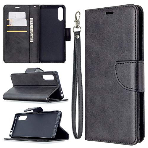 Hongjian Funda para Custodia para Sony Xperia L4 Flip Case Funda de cuero para Custodia por TPU silicona especial Case Cover 30