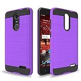 Ayoo:ZTE Grand X4 Case,ZTE Blade Spark Case,ZTE ZMAX One Case(Z719DL),ZTE Blade Spark Z971 Case,ZTE Grand X4 Z956 Case,ZTE Blade Spark Z971 Case,Brushed Texture Case for ZTE Grand X4-ZS Purple