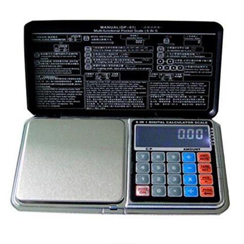 Balance numérique de poche multi-usage balance de bijoux balance de cuisine électronique calculatrice Fonction, 3, 500/0.1g