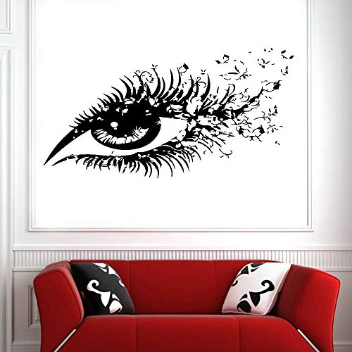Ojos pestañas largas vinilo pared pegatina avión animación niños habitación dibujos animados