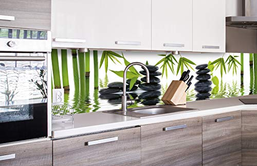 DIMEX LINE Küchenrückwand Folie selbstklebend Zen Steine | Klebefolie - Dekofolie - Spritzschutz für Küche | Premium QUALITÄT - Made in EU | 260 cm x 60 cm