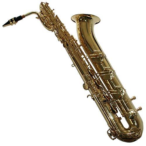Karl Glaser Saxofón barítono en oro con maletín Boquilla + Blättchen