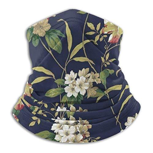 NR Unisex Winter Rhododendron Nahtlose Gesichtsmaske Bandanas für Staub, Outdoor, Festivals, Sport Kopftuch Schwarz