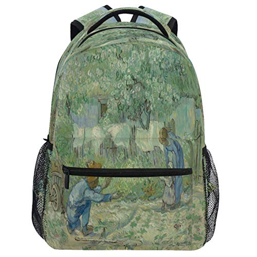 Mouthdodo Vincent Van Gogh First Steps After Millet - Mochila de pintura para libros de viaje, senderismo, camping, escuela o portátil