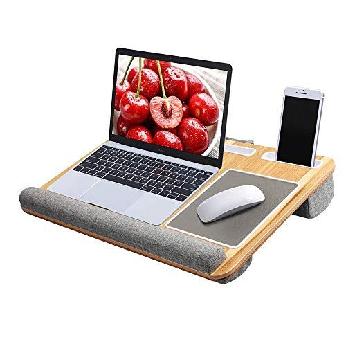 YLL Bandeja portátil Tabla móvil del Ordenador portátil del cojín Cama Escritorio Incorporado portátil cojín de ratón y muñeca Pad Tablet PC con Pluma Y Soporte for teléfono