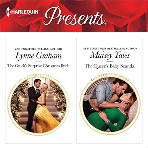 The Greek's Surprise Christmas Bride & The Queen's Baby Scandal audiobook cover art
