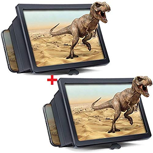 Drumstone [Buy 1 Screen Magnifier Get 1 Free] F2 Screen 3D Magnifier Enlarger Stand Holder Unique Foldable Box Shaped- 1 Year Warranty
