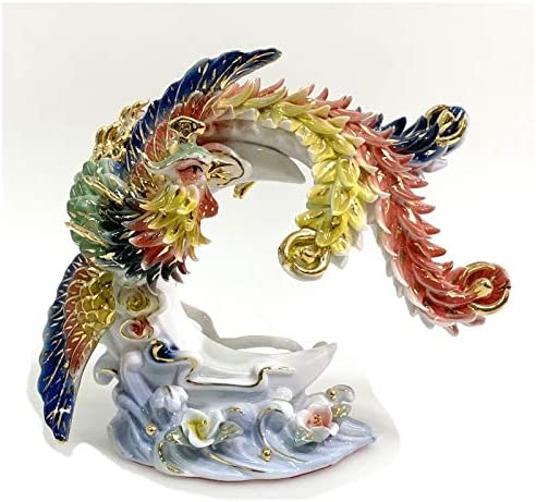 Feng Shui Phoenix -Hand Crafted 直送商品 Porcelain Chinese セール and Decorated