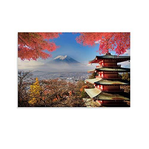 SHUIJ Beautiful View of Mount Fuji in Japan Poster Decorative Painting...