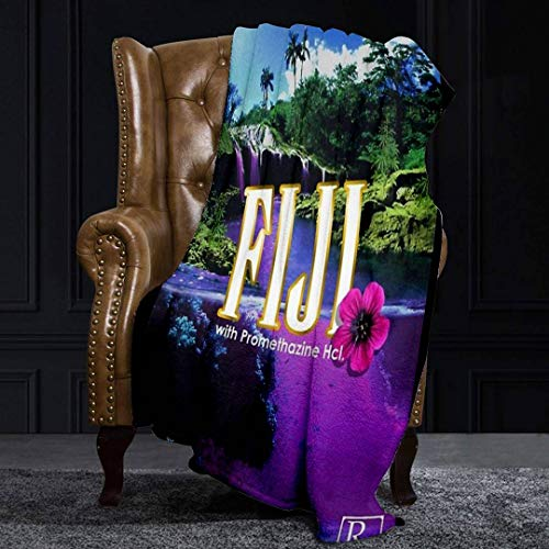 Ellekiwi Flannel Blanket Purple Dream Plush Fluffy Warm Soft Bed/Sofa Blankets and Throws for Queen and King Size - 51 x 59in