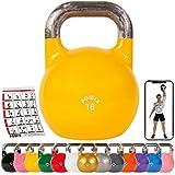 POWRX Kettlebell Pesa Rusa Competición 4-28 kg + PDF Workout