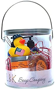 LBK SOAP COMPANY DUCKIES FREEDOM RINGS GIFT CAN