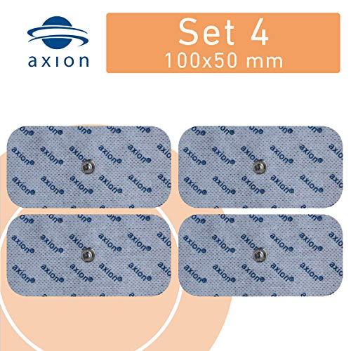 4 axion Elektroden-Pads, 10x5cm - für EMS- & TENS-Geräte von Sanitas & Beurer