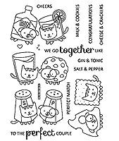 食品透明クリアシリコンスタンプ/DIYスクラップブッキング用シール/フォトアルバム装飾クリアスタンプシートA1023