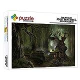 Puzzle Puzzles 1000 PièCes Puzzles Classiques Puzzle Bois Cabane dans Les Arbres De La Forêt Collection pour Les Amants Ou Les Amis Adultes 52X38Cm
