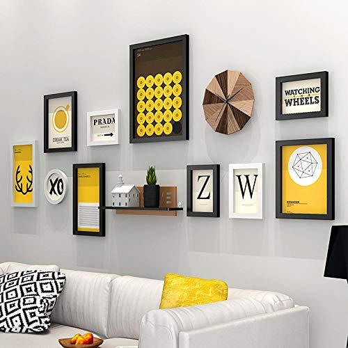 Amerikanischen Stil Vintage Wandbehang Bilderrahmen Set Schlafsofa Wand Holz Bilderrahmen Qualität Bilderrahmen porta retrato-heibaihunda