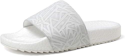 XSY2 Pantoufles d'été Hommes Chaussures de Jardin Indoor Sand Slip résistant Plage Sandales Chaussures de Sport Unisexe Adultes,A,42
