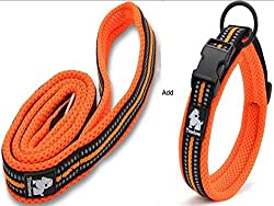 "PADDED SOFT MESH. Wide Soft Mesh Padding and Ergonomic Design inside the collar, it's soft around the edges to protect your pet's neck and still sturdy enough to handle tough pulls.Packed with same color lead,XSS-S with 0.6""wide lead, M with 0.8"" and..."