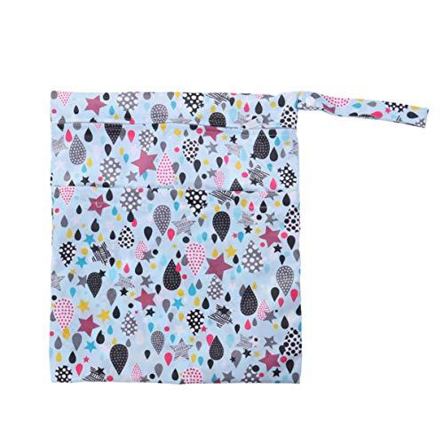SUPVOX sac de couche sec infantile humide imperméable à l'eau poche réutilisable double couche de sac à langer imperméable à l'eau