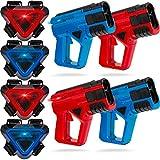 SHARPER IMAGE 4-Player Toy Laser Tag Gun Blaster & Vest Armor Set for...