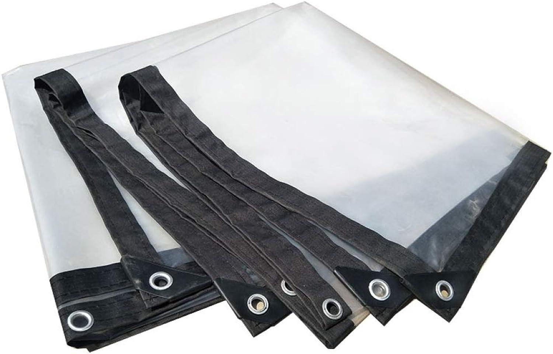 ALYR Transparente Plane, vielseitig Zeltplanen, Wasserdicht Abdeckplanen für Dach, Camping, Outdoor, Patio Regen oder Sonne,Transparent_12x12ft 4x4m