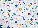Polycotton-Stoff mit Luftballon-Aufdruck, für Kleidung,