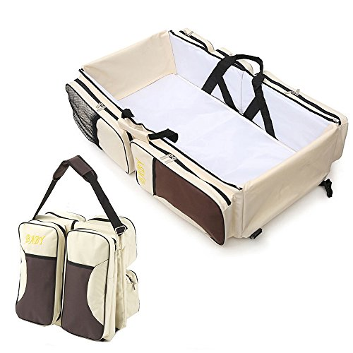 Multifunctional 3 in 1 Baby Changing Bags Travel Bassinet bed Portable...