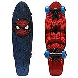 PlayWheels Ultimate Spider-Man 21 Inch Wood Cruiser Skateboard - Beginner Skateboard for Kids - Spidey Eyes