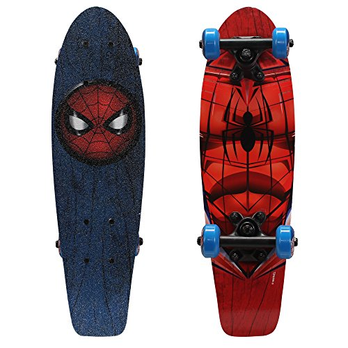 PlayWheels Ultimate Spider-Man 21 Inch Wood Cruiser Skateboard - Beginner...