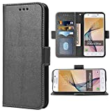 Phone Case for Samsung Galaxy on5 2015 Folio Flip Wallet Case,PU Leather Credit Card Holder Slots Heavy Duty Full Body Protection Kickstand Protective Phone Cover for GalaxyON5 Glaxay G5500 Black