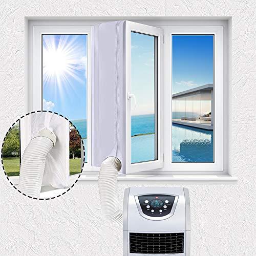 300mm Fensterabdichtung für mobile Klimageräte, Premium Fenster Abdichtung, Ideal Fensterdichtung Für die Klimaanlagen, Wäschetrockner, Abdichtung airLock Passend Allen Schlauchgrößen