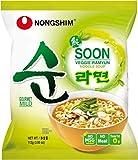Nong Shim Instantnudeln Soon Veggie Ramyun – Koreanische Gemüse Ramen Suppe mild - schnelle Zubereitung – 20er Vorteilspack à 112g