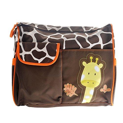 Tinksky Girafe mignon modèle multifonctions grande capacité bébé langer coussin voyage momie sac fourre-tout sac à main (Orange)
