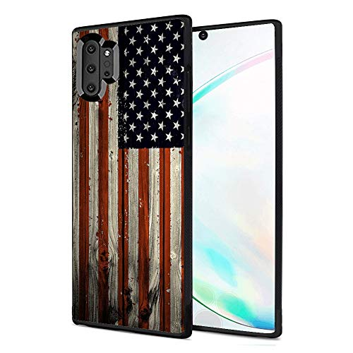 Case for Samsung Galaxy Note 10 Plus American Flag Case Hard PC Black Cover Case Waterproof Shockproof Durable Protective Case
