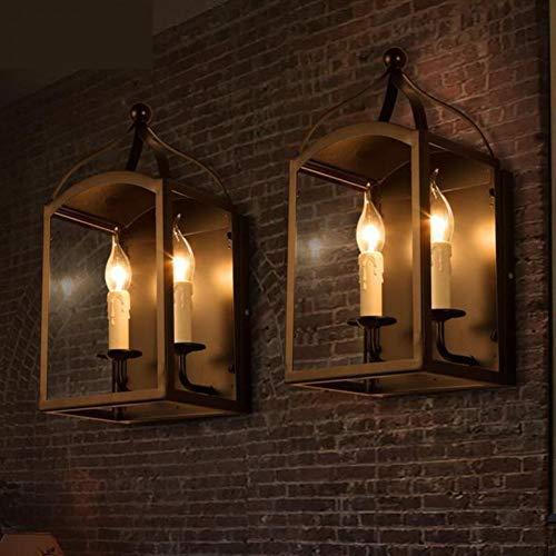 Lankouli Wandleuchte Cafe Castle Led Wandleuchte Kerzenhalter Eisen Wandleuchten Glaswand Kerze Lampe Für Flur Esszimmer