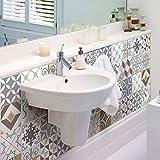Ambiance-Live Cuadros de Cemento Adhesivos para Pared–Azulejos–20x 20cm–24Piezas
