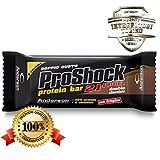 anderson proshock - 24 barrette proteiche da 60 g con 21g di proteine whey e 8 vitamine - gusto doppio cioccolato - confezione grande formato risparmio