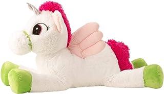 Lifestyle & More Unicornio Grande con alas Juguete Peluche Juguete Felpa Blanco / Rosa XL 85 cm Alto y Suave Aterciopelado - al Amor