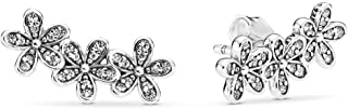 daisy silver ring with cubic zirconia