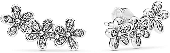 pandora daisy flower stud earrings
