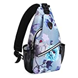 MOSISO Mini Sling Backpack,Small Hiking Daypack Pattern Travel Outdoor Sports Bag, Ink-wash Painting