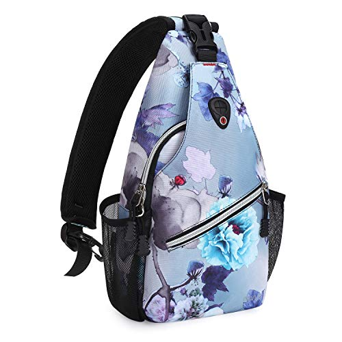 MOSISO Mini Sling Backpack, Small Hiking Daypack Travel Outdoor Casual Sports Bag, Ink-wash Painting