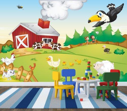 Fototapete Bauernhof - weitere Größen und Materialien wählbar - DEUTSCHE PROFI QUALITÄT von Trendwände