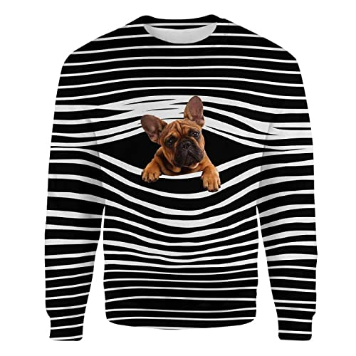 Customized 3D Sweatshirt French Bulldog - Premium Sweatshirt Personalized T-Shirts Zip-up Hoodie Tank Top Crewneck Sweatshirt Outdoor Holiday Style