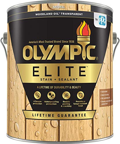 commercial Olympic Stain Elite Wood Stain Woodland Oil Transparent, low VOC paint and sealant … woodland oil stain