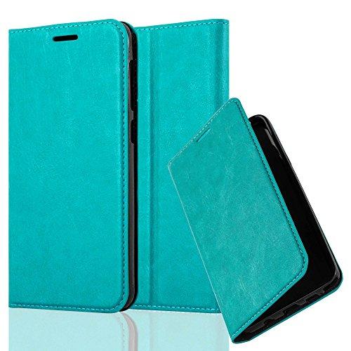 Cadorabo Hülle für HTC Desire 10 Lifestyle/Desire 825 - Hülle in Petrol TÜRKIS – Handyhülle mit Magnetverschluss, Standfunktion & Kartenfach - Case Cover Schutzhülle Etui Tasche Book Klapp Style