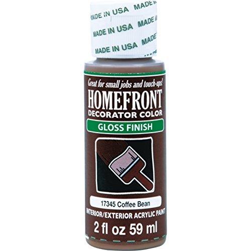 Homefront+Paint+Acrylic+Exterior+Interior+InteriorExterior+Gloss+Coffee+Bean+2+Oz