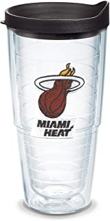Tervis NBA Miami Heat Primary Logo Tumbler with Emblem and Black Lid 24oz, Clear