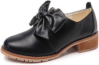 [VALER] パンプス リボン 大人 カワイイ スクエアトゥ つま先らくちん ローヒール らくちん 履きやすい 疲れにくい レディース 靴 モチーフ チャンキーヒール 可愛い リボン付き ローファー おしゃれ 春夏 革靴